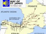 Pilgrimage Spain Camino De Santiago Map French Way Wikipedia