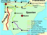 Pilgrimage Spain Camino De Santiago Map Wir Pilgern Auf Dem Jakobusweg