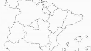 Plain Map Of Spain Spain Map Coloring Page Golfpachuca Com