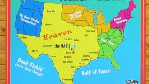 Plat Maps Texas A Texan S Map Of the United States Featuring the Oasis Restaurant