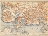Plymouth England Map 1910 Plymouth United Kingdom Great Britain Antique Map Products