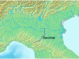 Po River Italy Map Secchia Wikipedia