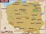 Poland On Europe Map Map Of Poland