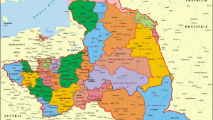 Poland On Europe Map Poland 1773 1793 Administrative Division Of the Polish