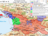 Political Map Of Georgia Country Georgian Civil War Wikipedia