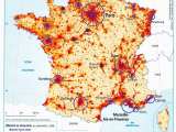 Population Density Map Of England France Population Density and Cities by Cecile Metayer Map