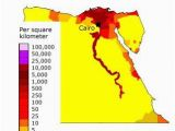 Population Density Map Of Italy Map Showing Population Density In Egypt Geography Egypt World