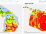 Population Density Map Of Italy Us Michigan Map County Population Density Maps4office