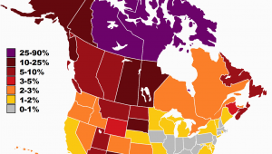 Population Map Of Canada Indigenous Peoples In Canada Wikipedia
