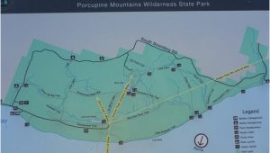 Porcupine Mountains Michigan Map area Map Of Hikes Picture Of Porcupine Mountains Wilderness State