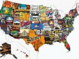 Portland oregon Brewery Map Cool Illustration How An Alehead Sees A Map Of America