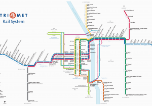 Portland oregon Light Rail Map Wes Commuter Rail