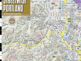 Portland oregon Max Map Streetwise Portland Map Laminated City Center Street Map Of