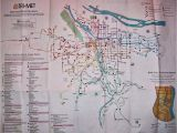 Portland oregon Max Map Transit Maps Historical Map Trimet Bus and Max Routes Portland