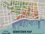 Portland oregon Neighborhood Map Downtown Map Portland Downtown