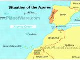 Portugal Map In Europe Azores islands Map Portugal Spain Morocco Western Sahara