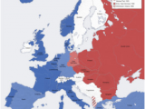 Post War Europe Map Cold War Conservapedia