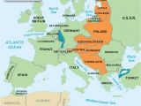 Post World War 2 Map Of Europe Blank Europe 1939 Accurate Maps