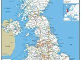 Postcode Map Of northern Ireland Large Uk Road Map A0 Vinyl Ga