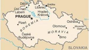 Prague On Europe Map Pin On Czech