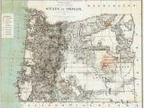 Prineville oregon Map Details About 1879 oregon Map or Hillsboro Madras north Bend Molalla