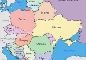 Printable Map Of Eastern Europe Maps Of Eastern European Countries
