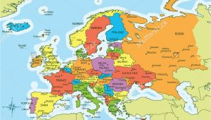 Printable Map Of Europe with Capitals and Countries Map Of European Cities and Countries Best Europe Capitals