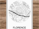 Printable Map Of Florence Italy Florence Italy Famous World City Street Map Print Poster Abstract