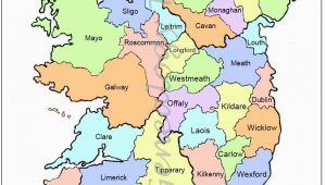Printable Map Of Ireland with Counties Map Of Counties In Ireland This County Map Of Ireland Shows All 32