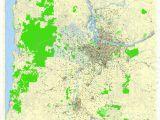 Printable Map Of Portland oregon Portland Vancouver oregon City Salem Large area Printable Map
