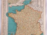 Printable Maps Of France 1937 Map Of France Antique Map Of France 81 Yr Old Historical