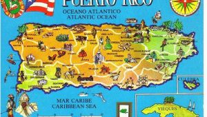 Puerto Rico Spain Map Puerto Rico Map Postcard Afghan Iraq Wall Puerto Rico 52