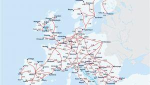 Rail Map Of France European Railway Map Europe Interrail Map Train Map Interrail