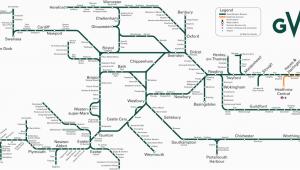 Rail Network Map England Great Western Train Rail Maps
