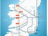Rail Travel In Ireland Map Irish Rail Map 2010 Grannymar Travel Train Map Travel