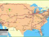 Railroad Map Colorado Usa Railway Map