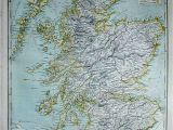 Railway Ireland Map Antique Map Letts S Railway and Statistical Map Of Scotland 1886