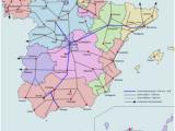 Railway Map Spain Renfe Operadora Revolvy