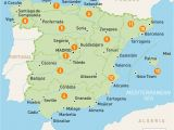 Regional Map Of Spain Middle East Maps with Capitals Climatejourney org
