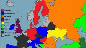 Religion Map Of Europe Maps Facts Panosundaki Pin
