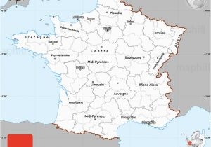 Renne France Map Gray Simple Map Of France Single Color Outside