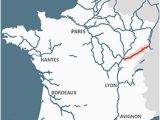 Rhone River France Map Rhone Rhine Canal Detailed Navigation Guides and Maps