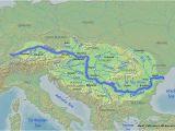 River Danube Map Europe River Danube Map Map Of West