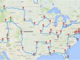 Road Map Europe Route Planner This Map Shows the Ultimate U S Road Trip Mental Floss