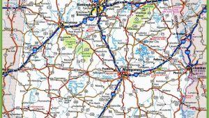 Road Map Of Alabama and Georgia Alabama Road Map