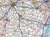 Road Map Of Alabama and Georgia Road Map Of Georgia