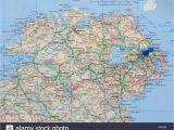 Road Map Of Ireland Counties Ireland Map Stock Photos Ireland Map Stock Images Alamy