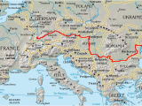 Road Map Of Italy and Switzerland Danube Wikipedia