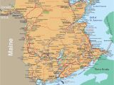 Road Map Of New Brunswick Canada Detailed Map Of New England Usa Download them and Print