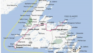 Road Map Of Newfoundland Canada Map Of Newfoundland towns Yahoo Canada Image Search